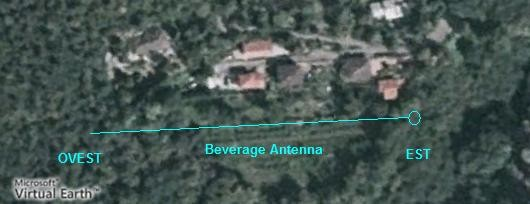 Satellite map of the my Beverage Antenna