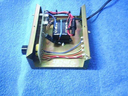 Control box (internal view, with the transformer substitution)