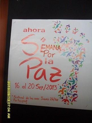 Semana por la paz jfr 2013