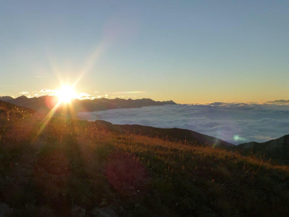 Sonnenaufgang am Piz Chavalatsch