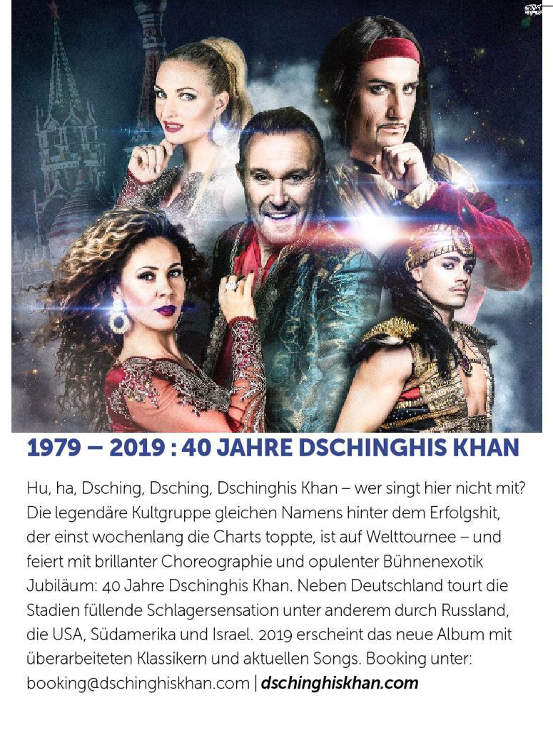 Dschinghis Khan in European Press (Eurowings)