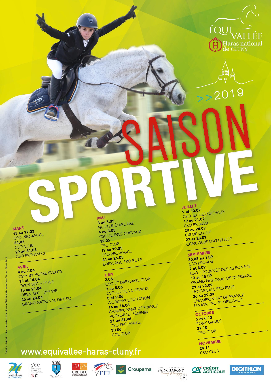 Calendrier Concours Cso 2020.Saison Sportive 2019 Site De Equivallee Haras Cluny