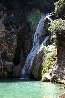 Polylimnio - Wasserfälle bei Kazarma, Peloponnes Griechenland