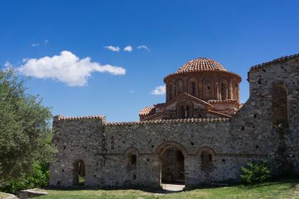 Mytras - byzantinische Ruinenstadt, Nähe Sparta, Peloponnes, Griechenland