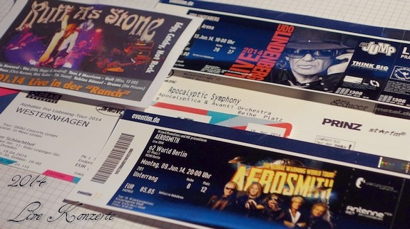 LIve Konzerte 2014 mit Lindenberg, Aerosmith, Apocalyptica und Westernhagen