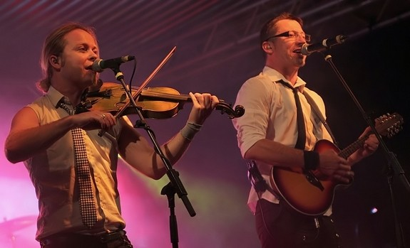 Fiddlers Green beim Open Air in Plauen / Malzhaus