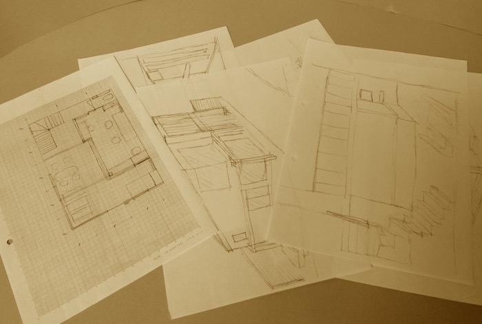 2011.03.28 ご要望のヒアリングと建主さんが描いたスケッチをいただく.