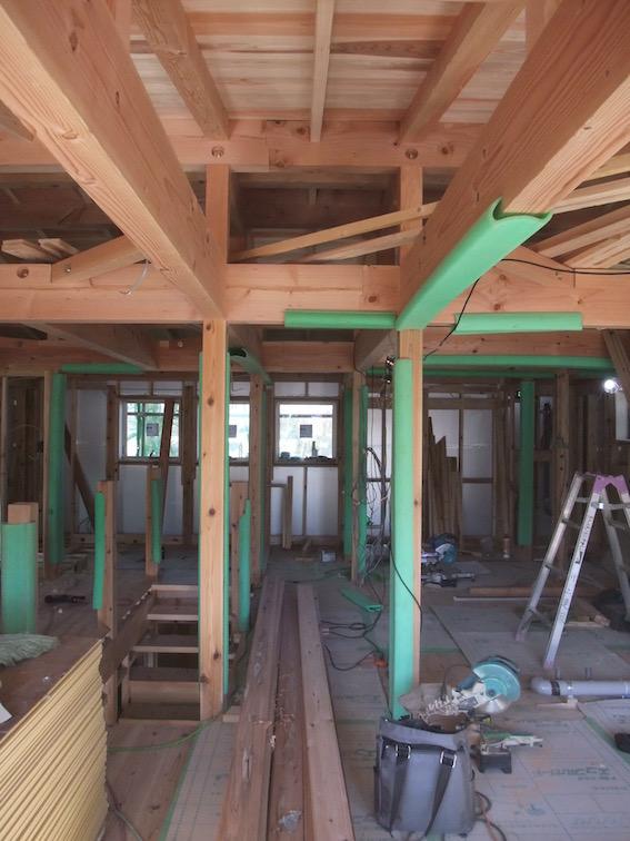20150120 年も明け、木工事。