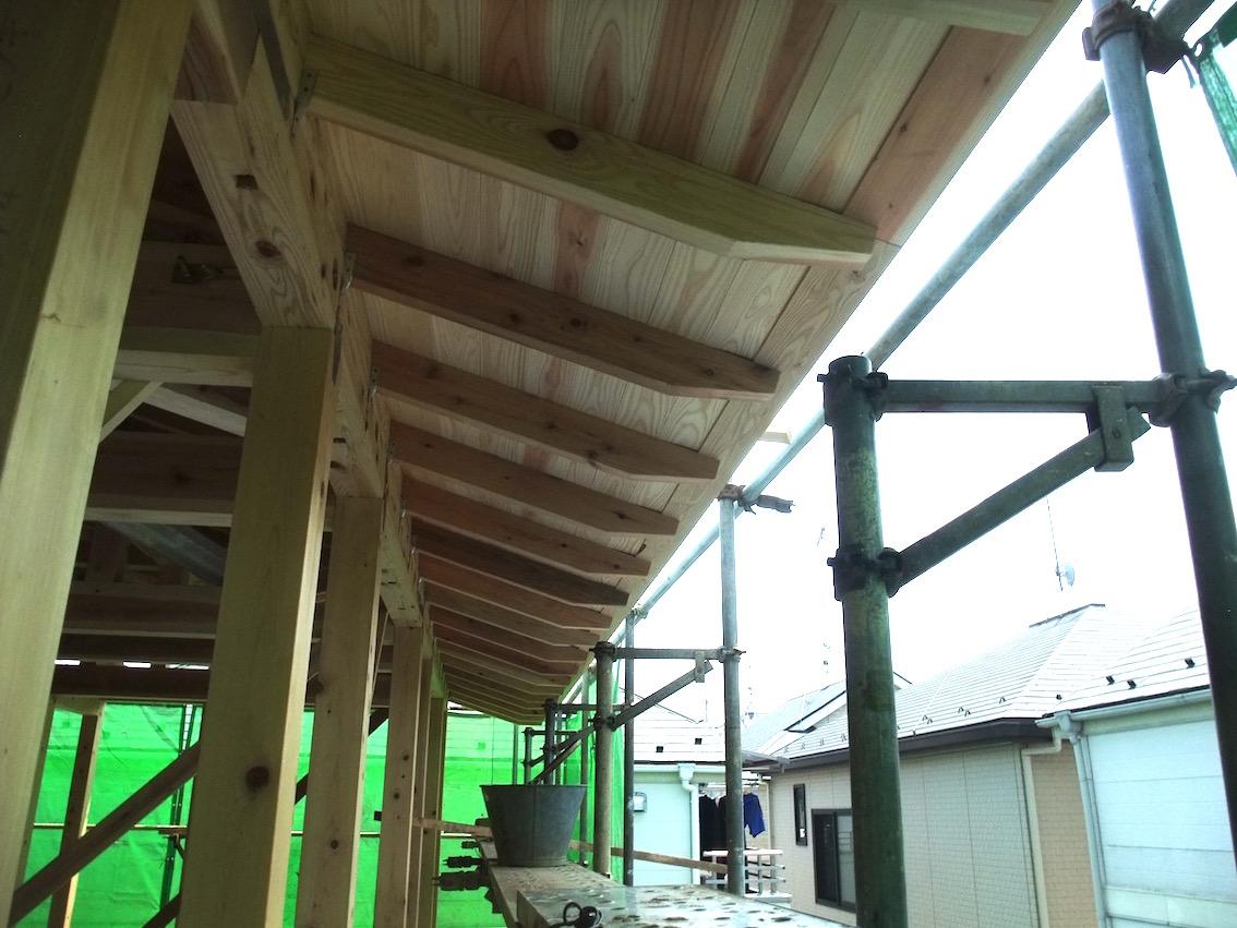 2012.07.28 化粧垂木の軒裏.