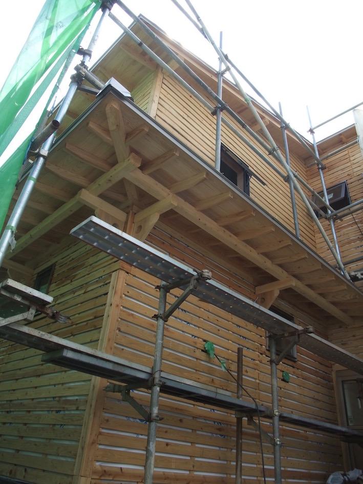 2012.09.01 外壁左官下地のラス板完了.