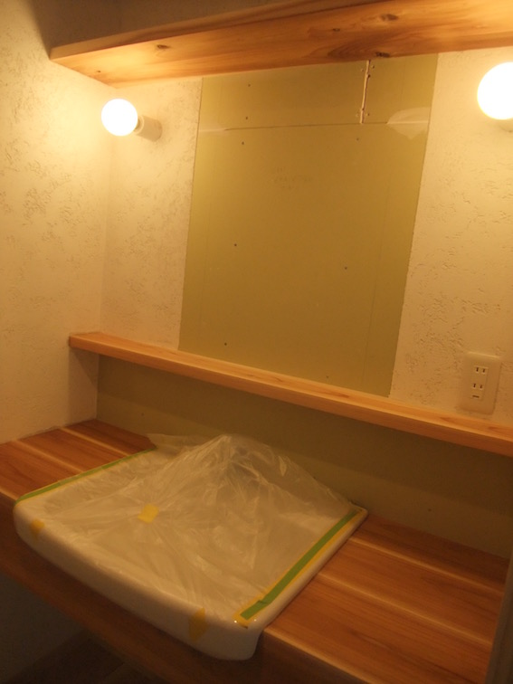 20160226 造作の洗面カウンター.