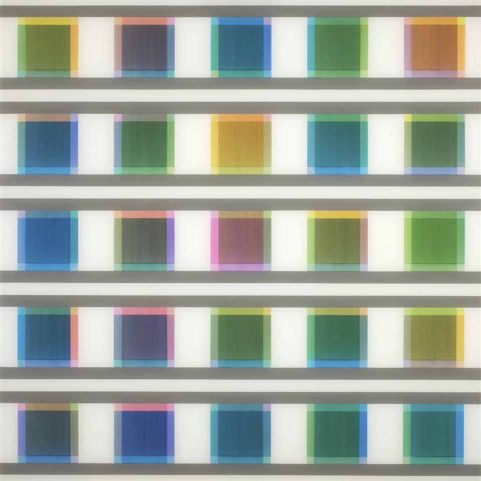 Manifold:0017 - acrylic on acrylic sheet - 75 x 75 cm