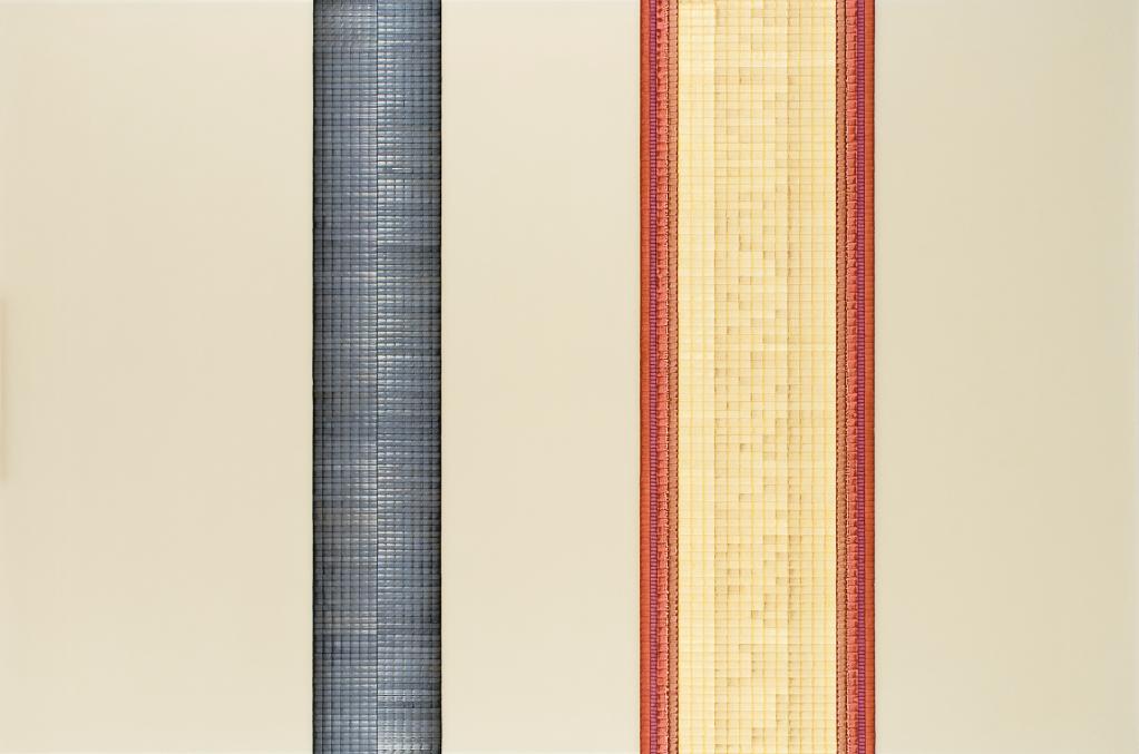 Column and List - watercolour on acrylic sheet - 100 x 150 cm