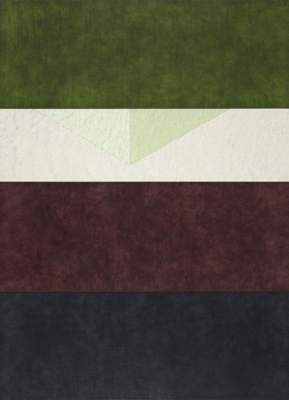 Yellow Tone / Corner / Red Magenta Tone / Grey - 55 x 40 cm - acrylic on wood panel