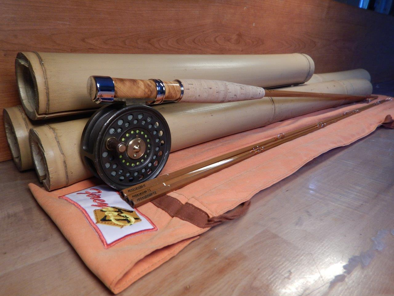 The jigane 7 39 0 39 39 3 3pcs penta fly rod tapered bamboo for Fishing rod ferrules