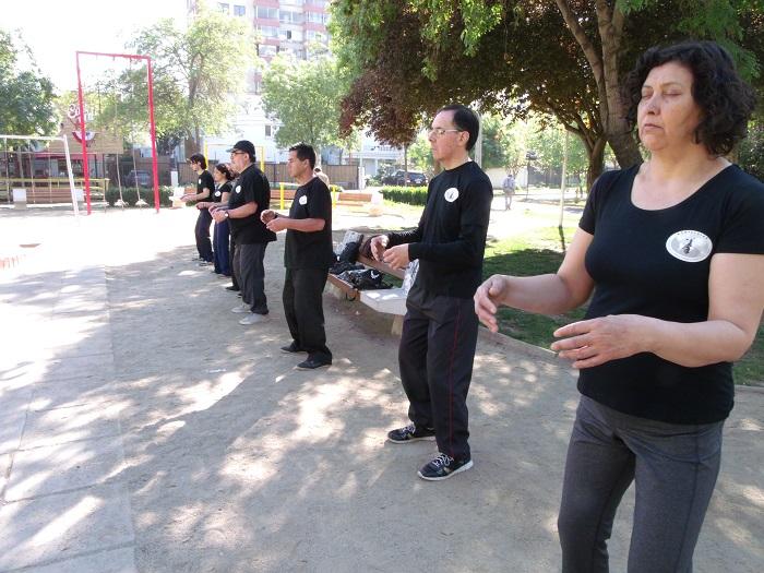Clases de Tai Chi Chen Style de WCTA Chile San Miguel en Plaza Julieta, Sábados desde 9 am.