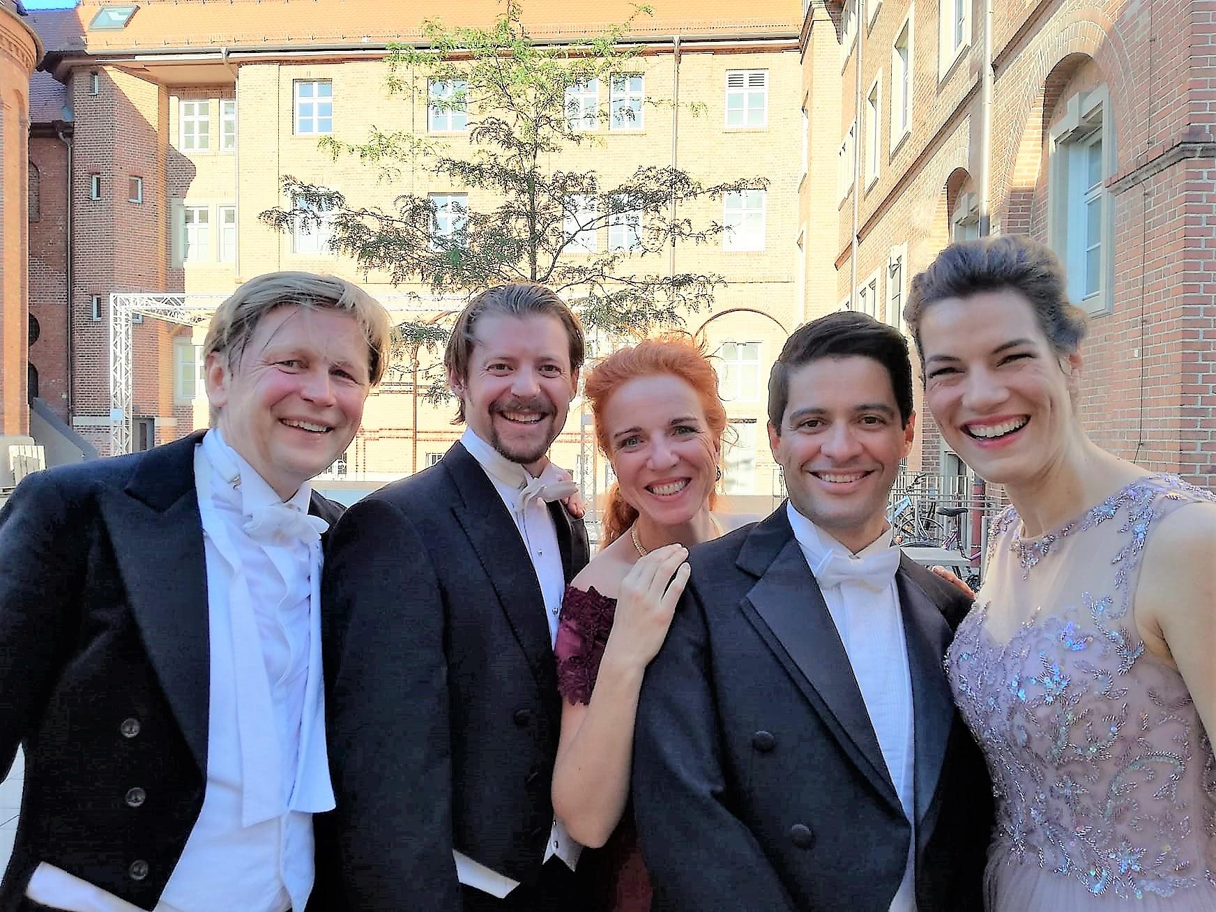 2018 Mozart, Messe in c-Moll,  unser Künstlerischer Leiter mit dem hervorragenden Solistenquartett