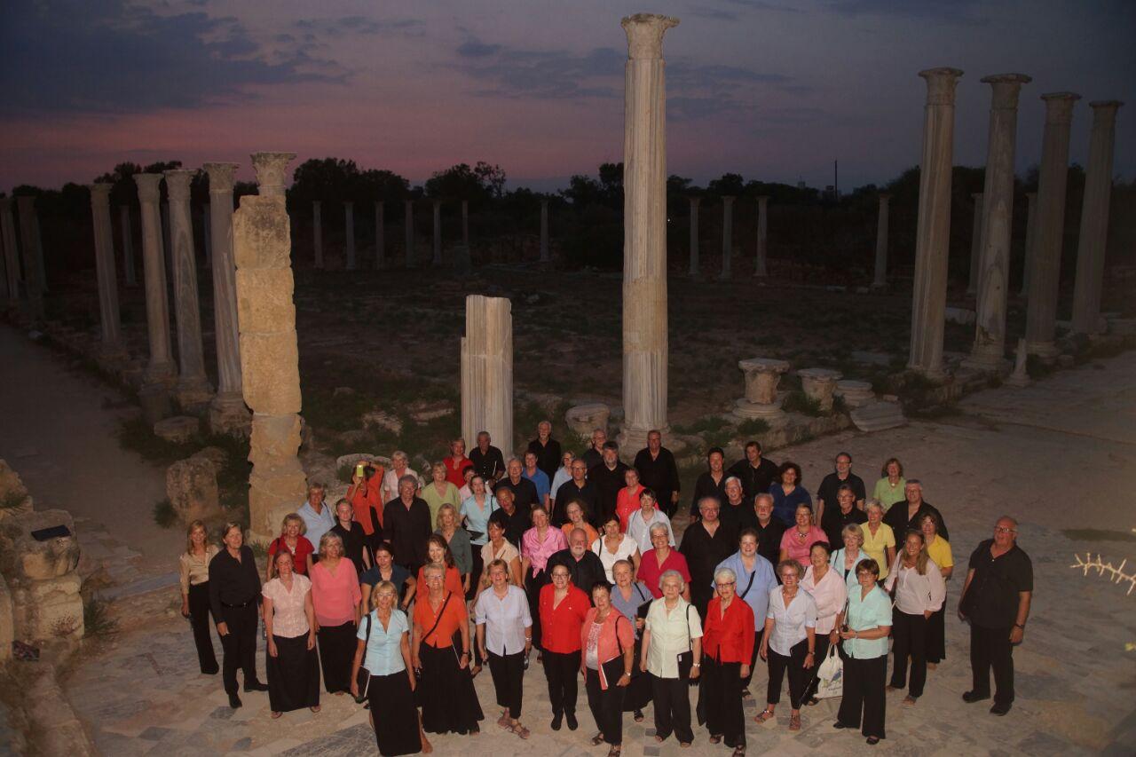 Noch schnell ein Foto in den Ruinen des antiken Salamis