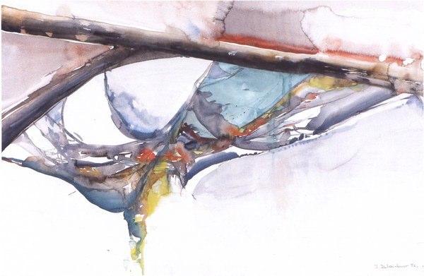 Welt der Spinnen | Aquarell auf Papier | 1992 | 70x50cm
