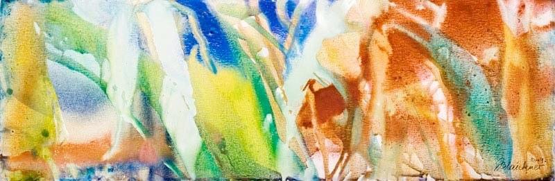 0K O.T. Erdfarben auf Leinwand, 2009 120 x 40 cm