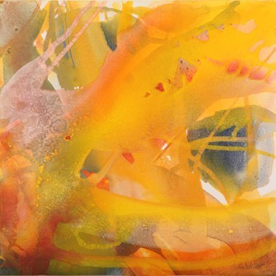 4409 O.T., Erdfarben auf Leinwand, 2011 70 x 70 cm