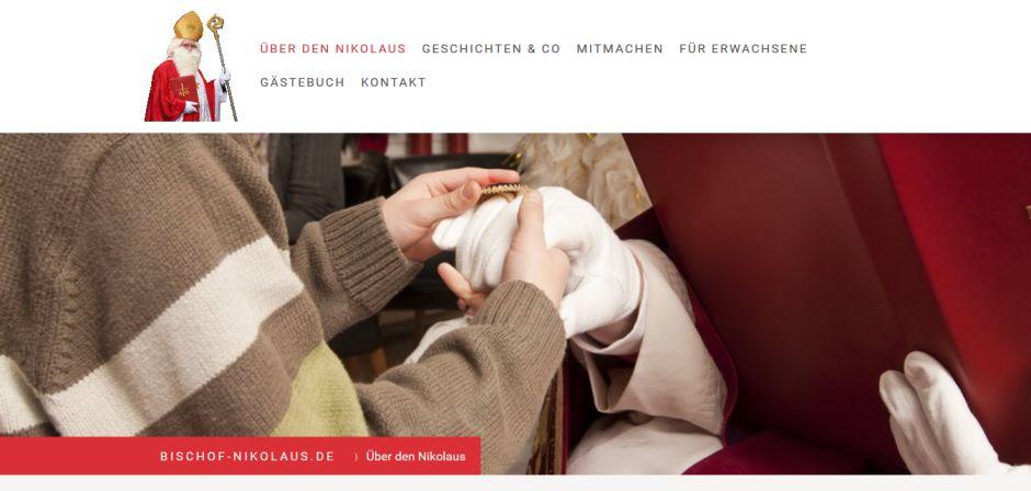 © Screenshot von http://www.bischof-nikolaus.de/