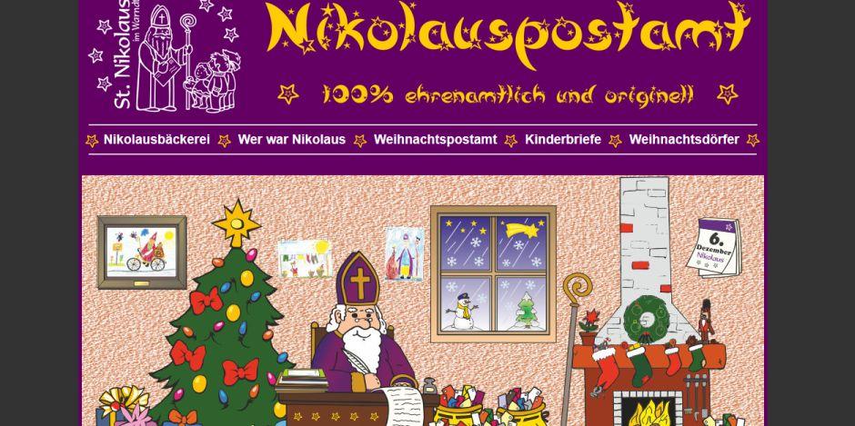 © Screenshot von http://www.nikolauspostamt.de/