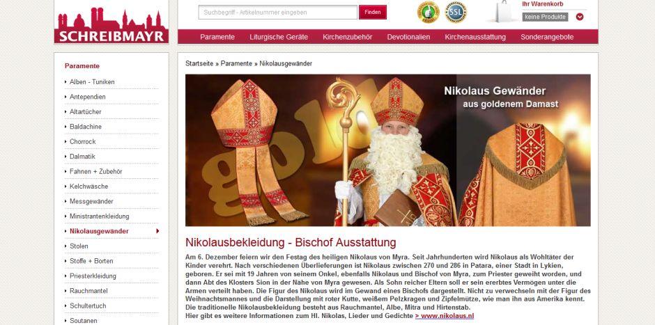 © Screenshot von https://www.schreibmayr.de/Paramente/Nikolausgewand/