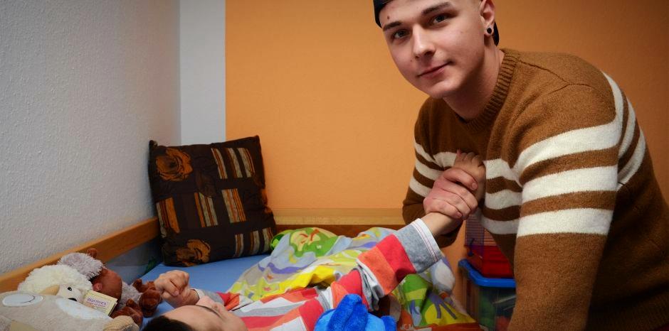 """""""Er gehört zu mir"""": Justin steht zu seinem kranken Bruder Morten."""