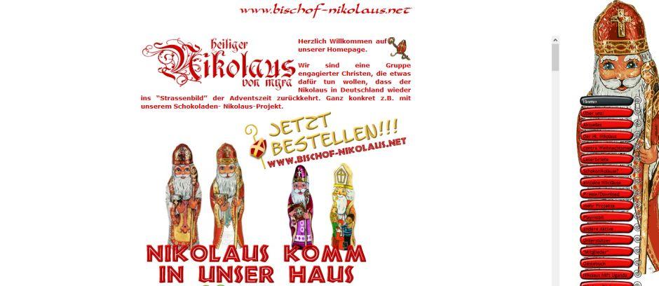 © Screenshot von http://www.bischof-nikolaus.net/