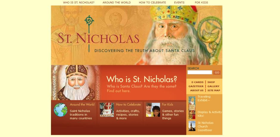 © Screenshot von http://www.stnicholascenter.org/pages/home/