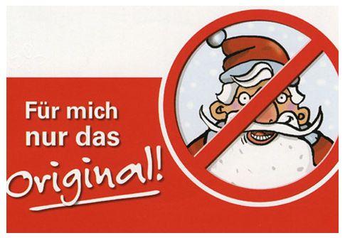 """Slogan der Aktion """"Weihnachtsmannfreie Zone"""""""