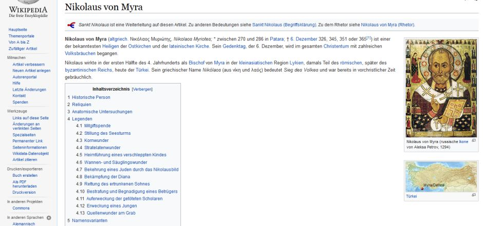 © Screenshot von https://de.wikipedia.org/wiki/Nikolaus_von_Myra