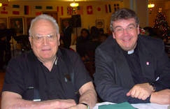 Father Eddi, Präsident der St. Boniface Society und Msgr. Austen (v.l.)