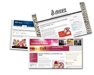 """Internationale Presse greift Aktion """"Weihnachtsmannfreie Zone"""" auf"""