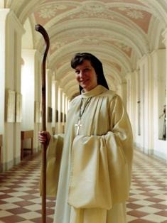 Hirtin in Christi Nachfolge: Mutter Laetitia, Äbtissin des Zisterzienser-Klosters Waldsassen.