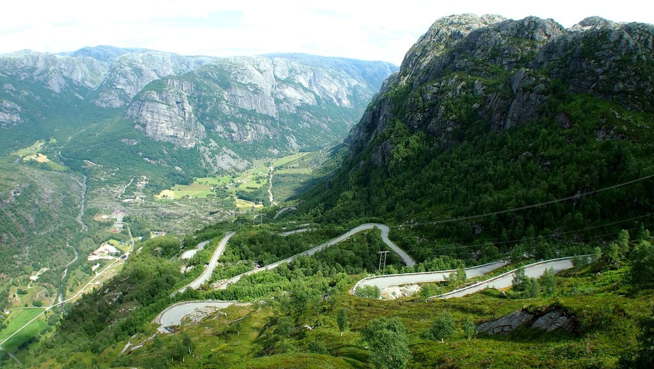 Norvège Montée du Lysebotn