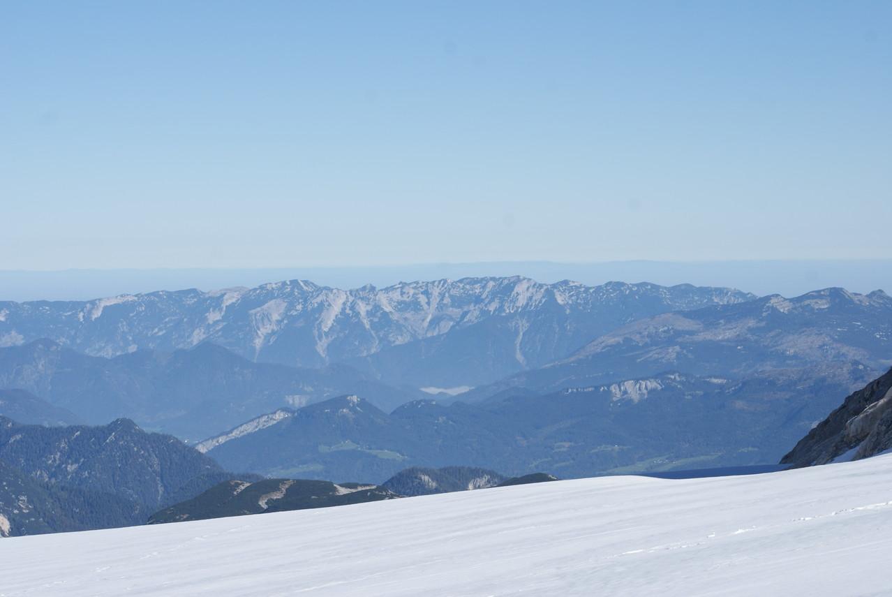 Panorama depuis le glacier