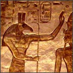 Teilansicht einer Stele aus dem alten Ägypten