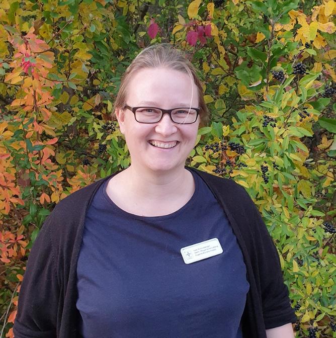 Bildunterzeile: Ines Schmidberger vom Eugenie Michels Hospiz in Bad Kreuznach