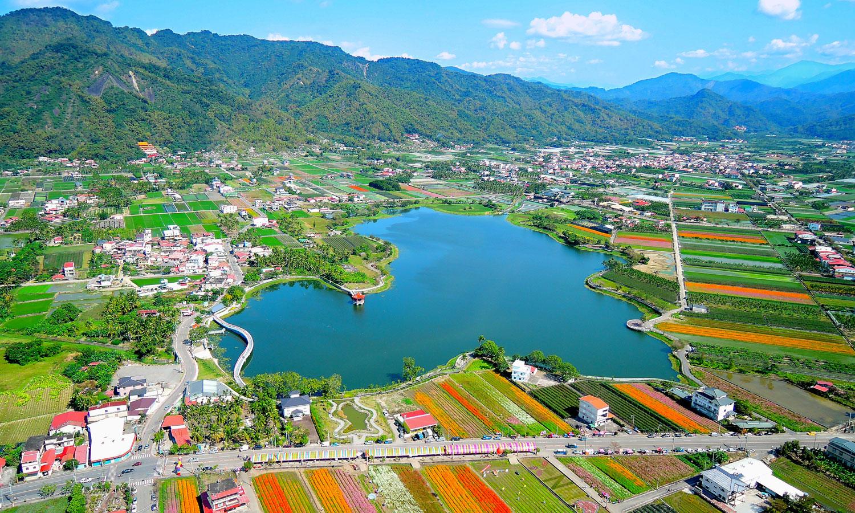 Meinong Lake (Year 2016). (©Urban Development Bureau, Kaohsiung City Government, Taiwan)