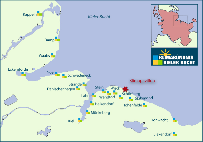 Map of the Bay of Kiel, Schleswig-Holstein (© Klimabündnis, Kieler Bucht)