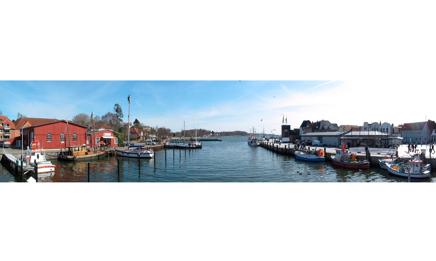 The harbor of Eckernförde (© Pixabay / 3298769)