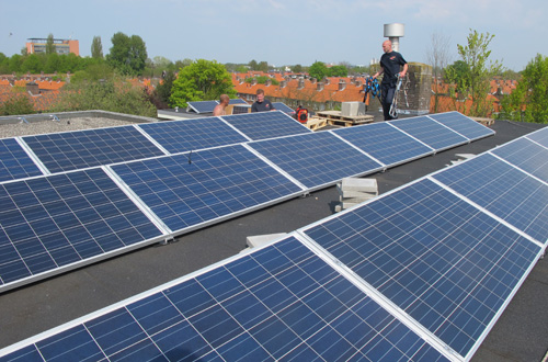 Solar Panels on primary school