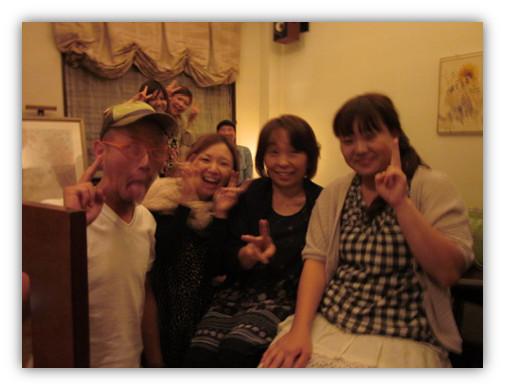 送別会でした  寂しくても笑顔で  2011年 9月22日
