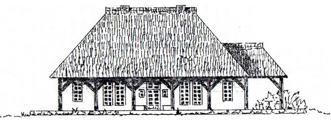 Kittyhill, Hurlebuschkate erbaut von C.F. Rumohr um 1820 - abgetragen 1936