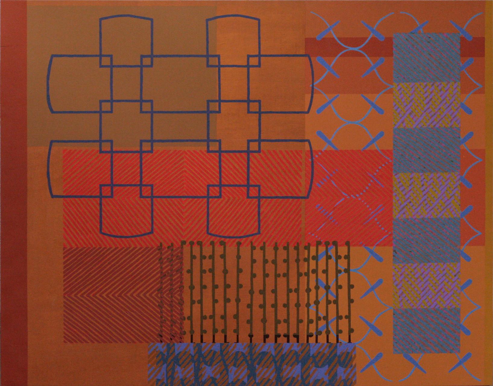 RED SOUL / THE PLAY. Acrílico sobre madera. 146X114 cm.   2015