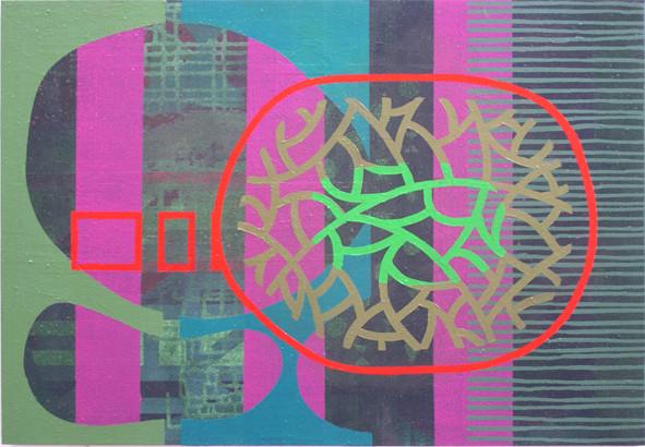 SIN TÍTULO. Acrílico sobre madera. 73X50. 2003