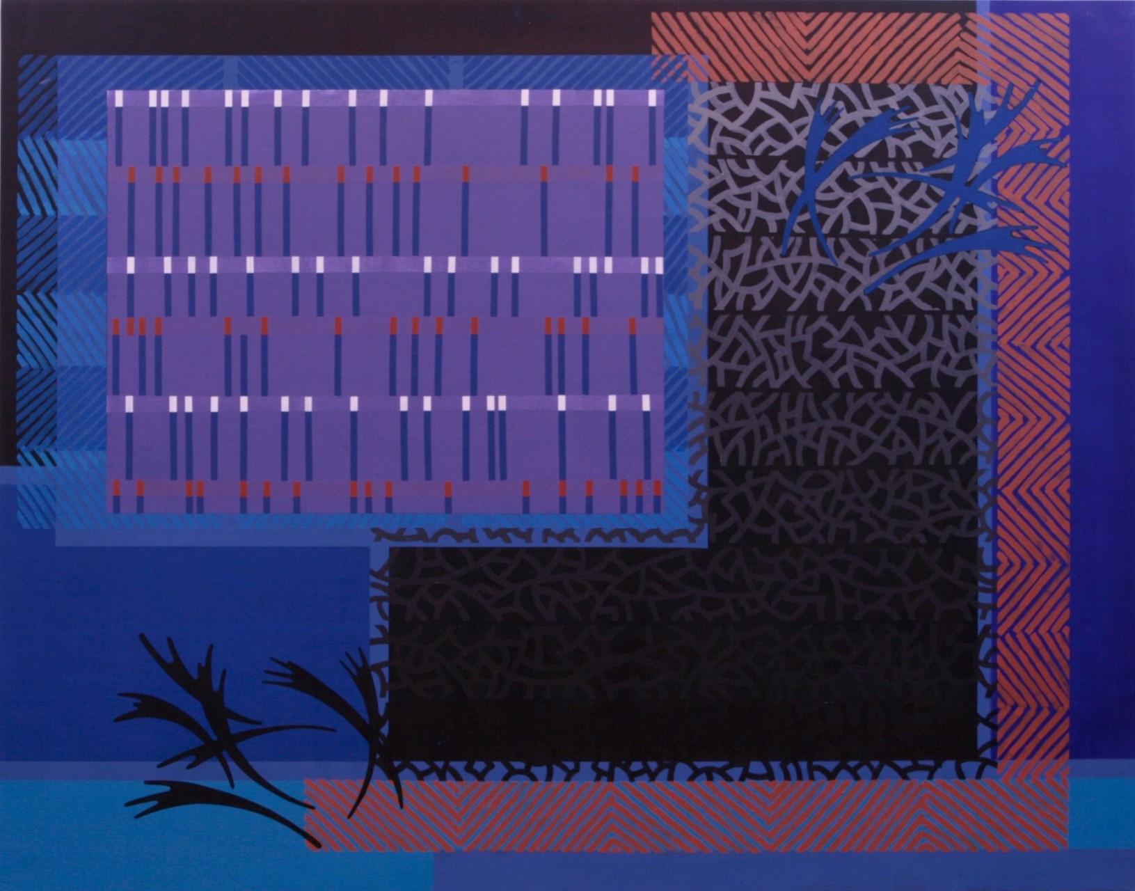 BLUE VARIATIONS. Acrílico sobre madera. 146X114 cm.   2015