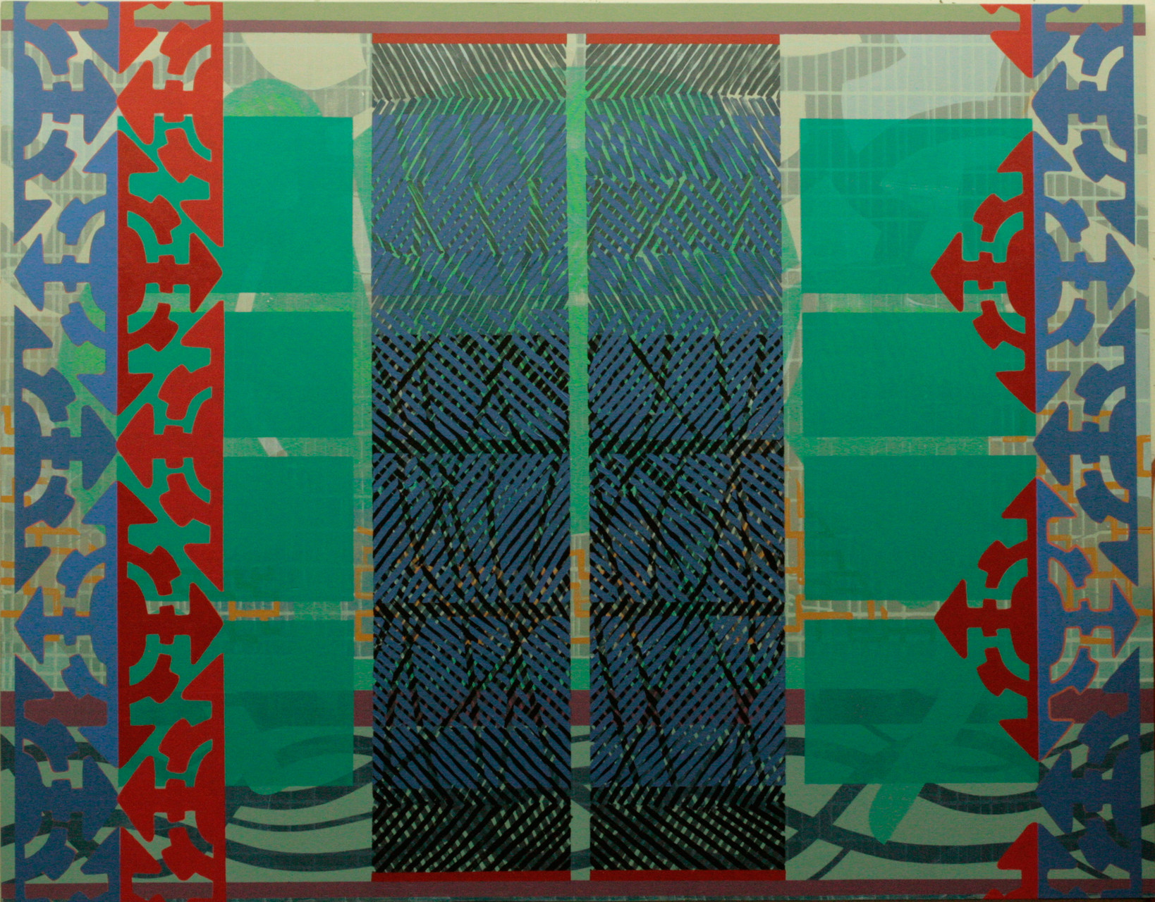 BATTLE SHIELD. Acrílico sobre madera. 146X114 cm.   2015